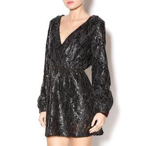 ✨ Honey Punch Matte Black Sequin Dress ✨